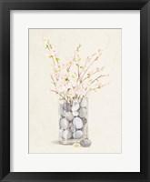 Framed Spring Vase With Pebbles