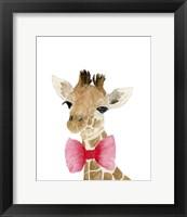 Framed Giraffe With Bow