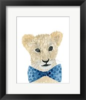 Lion With Bow Tie Framed Print
