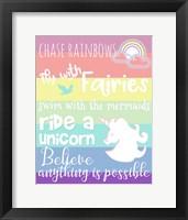 Framed Chase Rainbows
