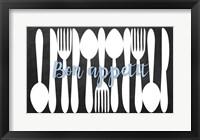 Framed Bon Appetit Silverware