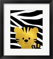 Gold Baby Tiger Framed Print