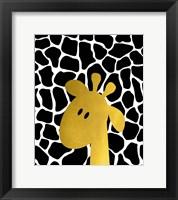 Gold Baby Giraffe Framed Print