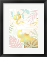 Golden Modern Safari I Framed Print