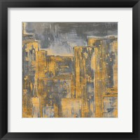Gold City Eclipse Square II Framed Print