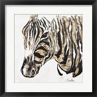 Framed Speckled Gold Zebra