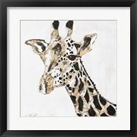 Speckled Gold Giraffe Framed Print