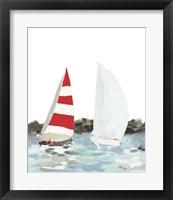 Line Regatta II Framed Print