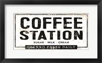 Framed Coffee Station