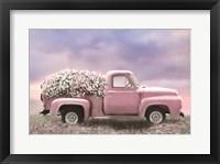 Framed Pink Floral Truck