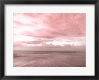 Framed Pink Beach Emotions
