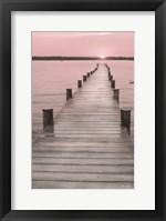Framed Pink Sunset at the Dock