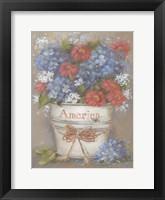 Framed Rustic Red, White & Blue