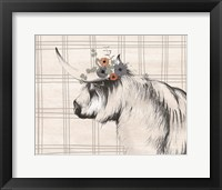 Framed Highland Cow in Gray