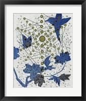 Chakra Web with Bird Framed Print