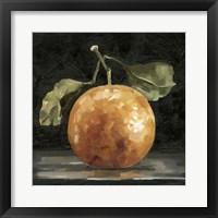 Framed Dark Orange Deux I