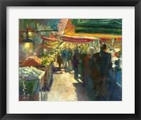 Framed Market Scene I