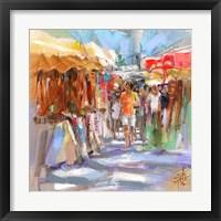 Framed Market Scene II