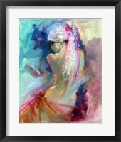 Framed Mood Alizarine I