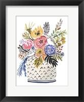 Painted Vase of Flowers II Framed Print
