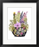 Painted Vase of Flowers III Framed Print