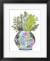 Painted Vase of Flowers IV Framed Print