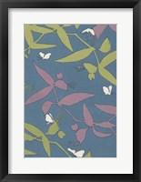 Framed Japanese Floral Design III