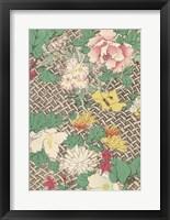 Framed Japanese Floral Design IV
