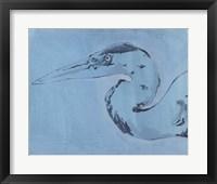 James River Heron II Framed Print