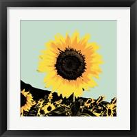 Pop Art Sunflower I Framed Print