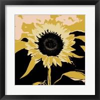 Pop Art Sunflower IV Framed Print