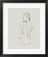Female Back Sketch I Framed Print