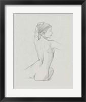 Female Back Sketch II Framed Print