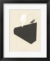 Steel Sequin with Bird III Framed Print