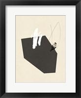 Steel Sequin with Bird IV Framed Print
