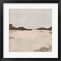 Misty Horizon Line I Framed Print