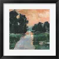 Coral Sunset I Framed Print