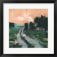 Coral Sunset II Framed Print