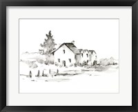 Rural Farmhouse Study II Framed Print