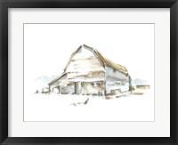 Roadside Barn II Framed Print