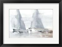 Misty Sails I Framed Print
