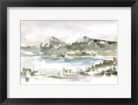 Snow-capped Mountain Study I Framed Print