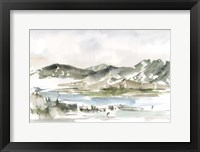 Snow-capped Mountain Study II Framed Print