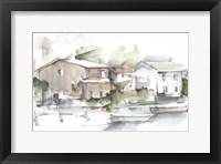 Serene Lakefront I Framed Print