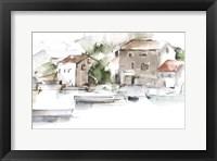 Serene Lakefront II Framed Print