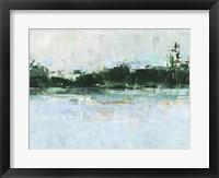 Treelined Waterfront II Framed Print