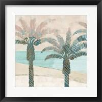 Framed Retro Palms I