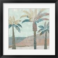 Retro Palms III Framed Print