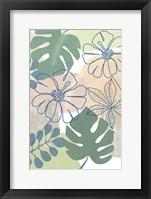Tropical Flower Power I Framed Print