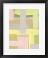 Subdued Blocks I Framed Print